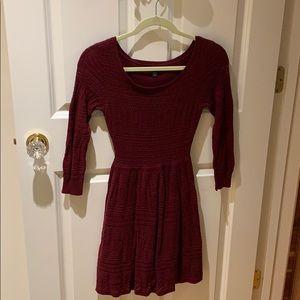 American Eagle garnet color knit dress